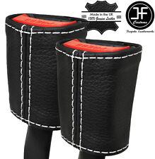 Cuciture BIANCHE 2x Cintura in pelle copre si adatta a LANCIA YPSILON 843 2003-2010