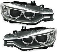 BMW 3 F30 / F31 Headlights Headlamp Silver (PAIR)