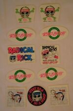 80's OLD SCHOOL 1989 RADICAL RICK BMX BIKE RACE RACING STICKER BICYCLE NOS