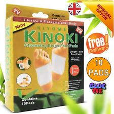 10 GOLD Kinoki Detox Body Foot Pad Patches (5 Pairs) WITHOUT BOX