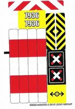 LEGO City Aufkleber / Sticker aus Set 7936 Bahnübergang