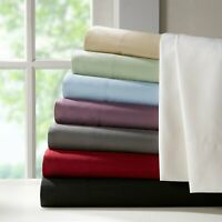 Royal's Solid Soft Bed Sheet Set Luxury Linens 100% Combed Cotton Deep Pocket