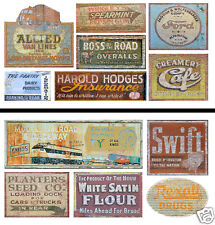 HO Scale Ghost Sign 2-Pack #10 - Great for Weathering Buildings & Structures!