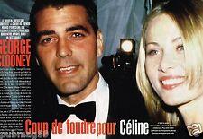Coupure de Presse Clipping 1996 (5 pages) George Clooney et Céline Balitran
