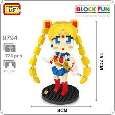 LOZ 9794 Anime Sailor Moon School Girl DIY Nano Blocks Diamond Mini Building Toy