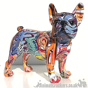 Graffiti Art bright colour French Bulldog ornament figurine Frenchie lover gift