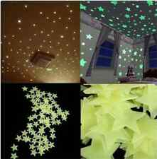 100pcs 3D Stars Glow In The Dark Luminous Fluorescent Wall Stickers Kids Room