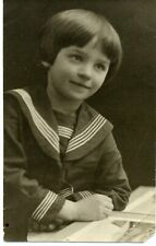1927 Girl Ada Moscow  Russian  antique photo