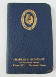 1932 NEW ENGLAND MUTUAL LIFE INSURANCE CO. Memo Calendar Book, Seymour CT Agent