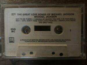 The Great Love Songs Of Michael Jackson By Michael Jackson - Cassette Tape