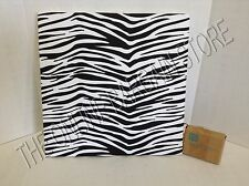 "Pottery Barn Teen Style Tile Fabric Pin Message Board 16"" Dorm Black Zebra"