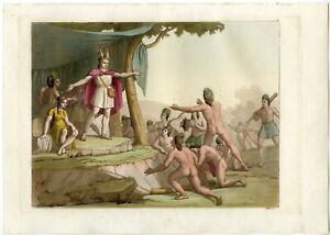 Antique Print-MANCO-CAPAC-INCA-PERU-SOUTH AMERICA-Ferrario-Gallina-1821