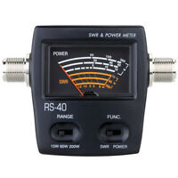 RS-40 Power SWR Meter For HAM Mobile Radio UHF VHF 144/430MHz 200W