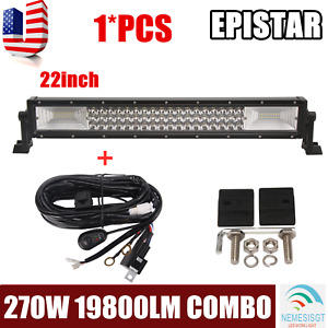 """22''inch 270W COMBO LED Light Bar Offroad Driving Bumper ATV Boat 20""""+Wiring Kit"""