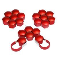 20pcs 17mm Car Plastic Caps Bolts Covers Nuts Alloy Wheel For Skoda, Audi,  L8Z9