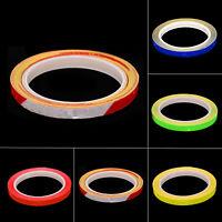 Colorato 8m Ruota Riflettente Adesivo Cerchi Fluorescente Allarme Pellicola Per