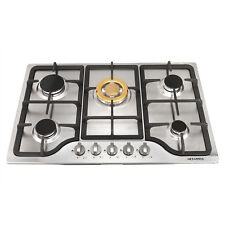 "Brand New,30""Stainless Steel Cooktop Built-in 5 Burners Stove Ng/Lpg Gas Hob"