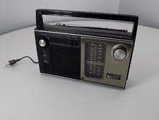VINTAGE-Sony AC/Battery Super Sensitive AM/FM Portable Radio ICF-7270W  Working