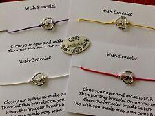 Conjunto de 4 pulseras de deseos. encanto estrella.. Encerado Cable de Metal Corazón Marco 4 pulseras