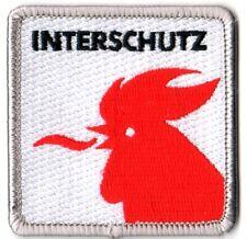 Abzeichen: Interschutz (zu 100 % bestickt, 6 x 6 cm)