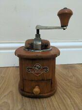 More details for vintage kym mokka coffee grinder- art deco style - wood - 1960s - free p&p
