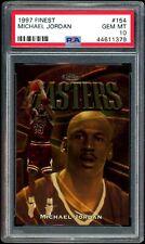 Michael Jordan 1997-98 Topps Finest Masters Gold #154 PSA 10 Gem Mint