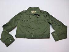 F-16C Teen Girls Size Medium Green Shorty Jacket Great Condition