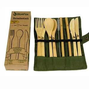 Camping Ess Reise Picknick Besteck Gabel Messer Löffel Holz//Plastik Auswahl