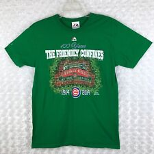 The Friendly Confines 100 Years Wrigley Field Short Sleeve Green T-shirt Size M