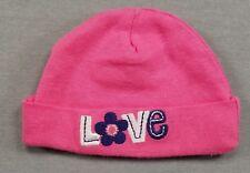 Baby Girl Nwot Gerber Newborn Pink Love Infant Cap Hat