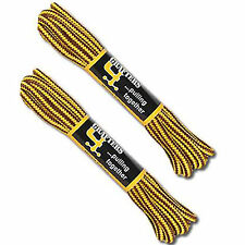 Two Pairs of Shoe / Boot Laces Yellow and Brown 140cm Free Delivery