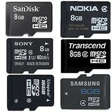 New Branded 8GB MicroSD Micro SD Memory Card KINGSTON SANDISK SAMSUNG ADATA SONY
