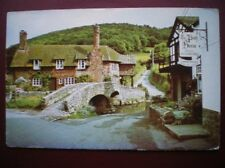 POSTCARD SOMERSET ALLERFORD - THE BLACK HORSE HOTEL 1980'S
