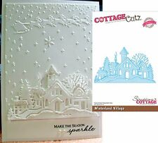 Church Winterland Village Metal Die Cottage Cutz Dies CCE-054 Winter Christmas