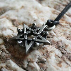 Pentagramm Kette Zinn Anhänger Halskette Skull Totenköpfe