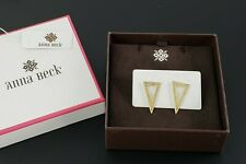 Anna Beck - Triangle Post Earrings Sterling Silver and 18k Gold Vermeil 1""