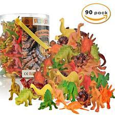90PCS Dinosaurs Plastic Tub Kids Park Jungle Animal Loot Toy Christmas Stocking