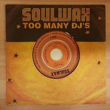 SOULWAX 'TOO MANY DJ'S' - CD SINGLE