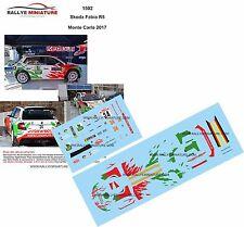 Decals 1/43 réf 1502 Skoda Fabia R5 Kremer Monte Carlo 2017