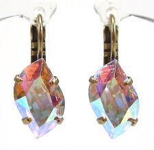 SoHo® Ohrhänger vintage aurore boreale 60´s crystal alte Strasssteine 60er Jahre