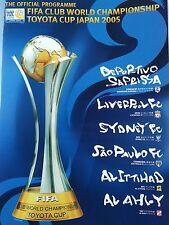 Club de campeonato mundial de FIFA Copa Toyota 2005 Japón. libro Bolsa/programa