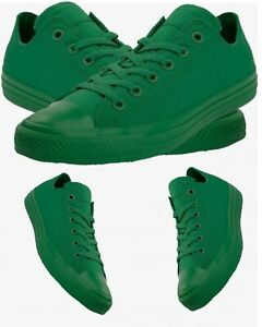 Green monochrome chuck Taylor converse all stars low tops
