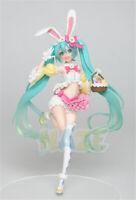 Anime Figure Toy Hatsune Miku Rabbit Ear Spring Dress Ver Action Figure Toy 19CM