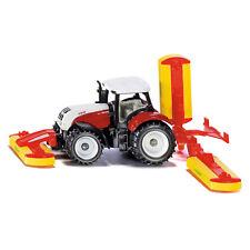 SIKU Steyr mit Pöttinger Mähwerkskombination Traktor Spielzeug-  Modellauto 1672