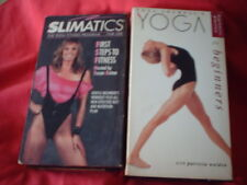 EXERCISE TAPES - SLIMATICS - YOGA VHS TAPES