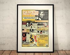 Escape from New York. Limited Edition Print. 80s Cult Movie (Print / Posters)