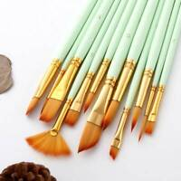 Artist Paint Brushes Set Kit Watercolour Oil Painting Face Paints Craft BB