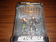 METAL GEAR SOLID Snake & Meryl Silverburgh Display Rare Hideo Kojima Figures NEW