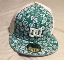 DC Shoes New Era 59Fifty Green Baseball Cap Fitted Size 7 3/8