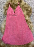 Tuzi pink mesh Camisole Top sleepwear nightwear size s/m